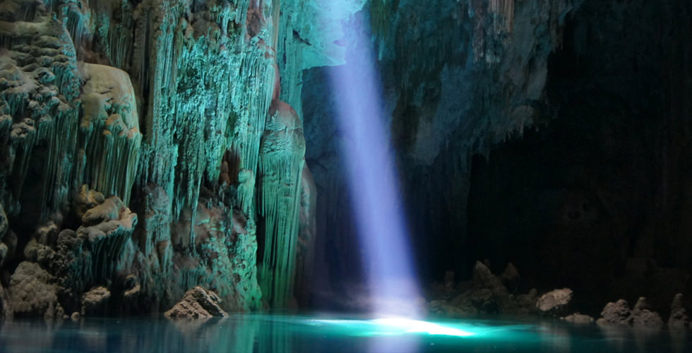 Anhumas Abyss cave in Bonito, Brazil