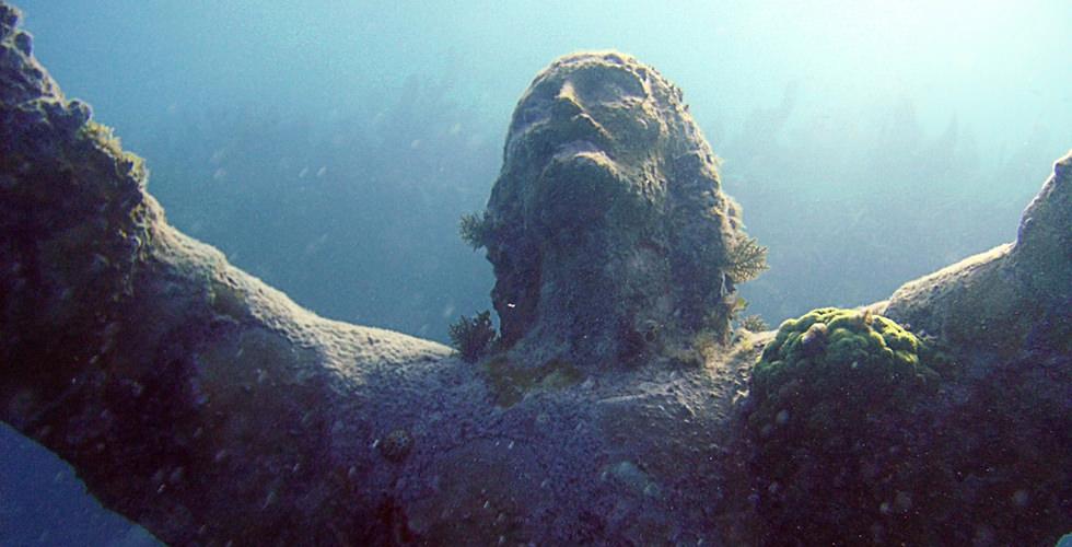 The Christ of Abyss Cristo degli Abissi) in Portofino