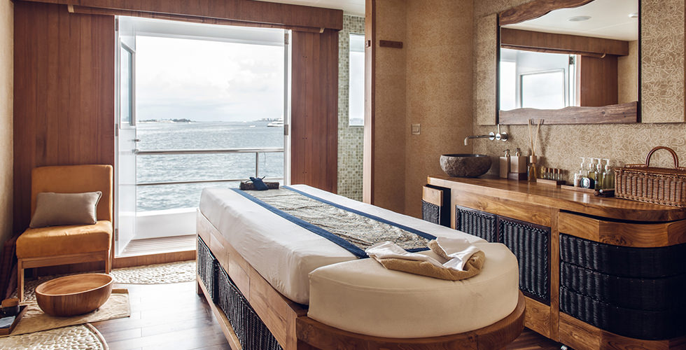 The wellness center onboard the Scubaspa