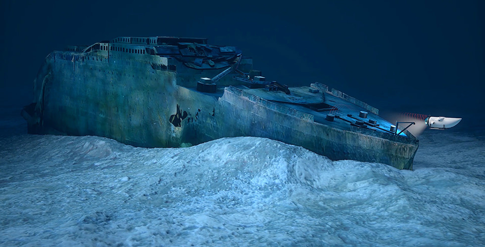 Underwater experience on the Titanic